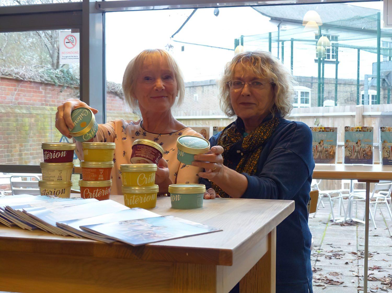 Volunteer Chris and Liz man the ice-creams